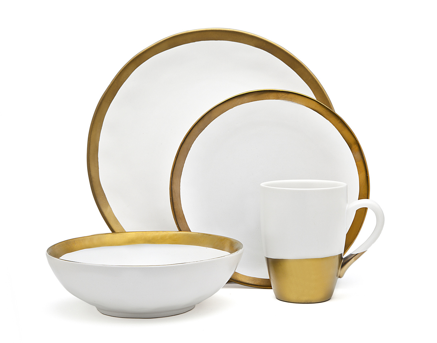 Terre D'or 4 Pc Dinner Set White Gold