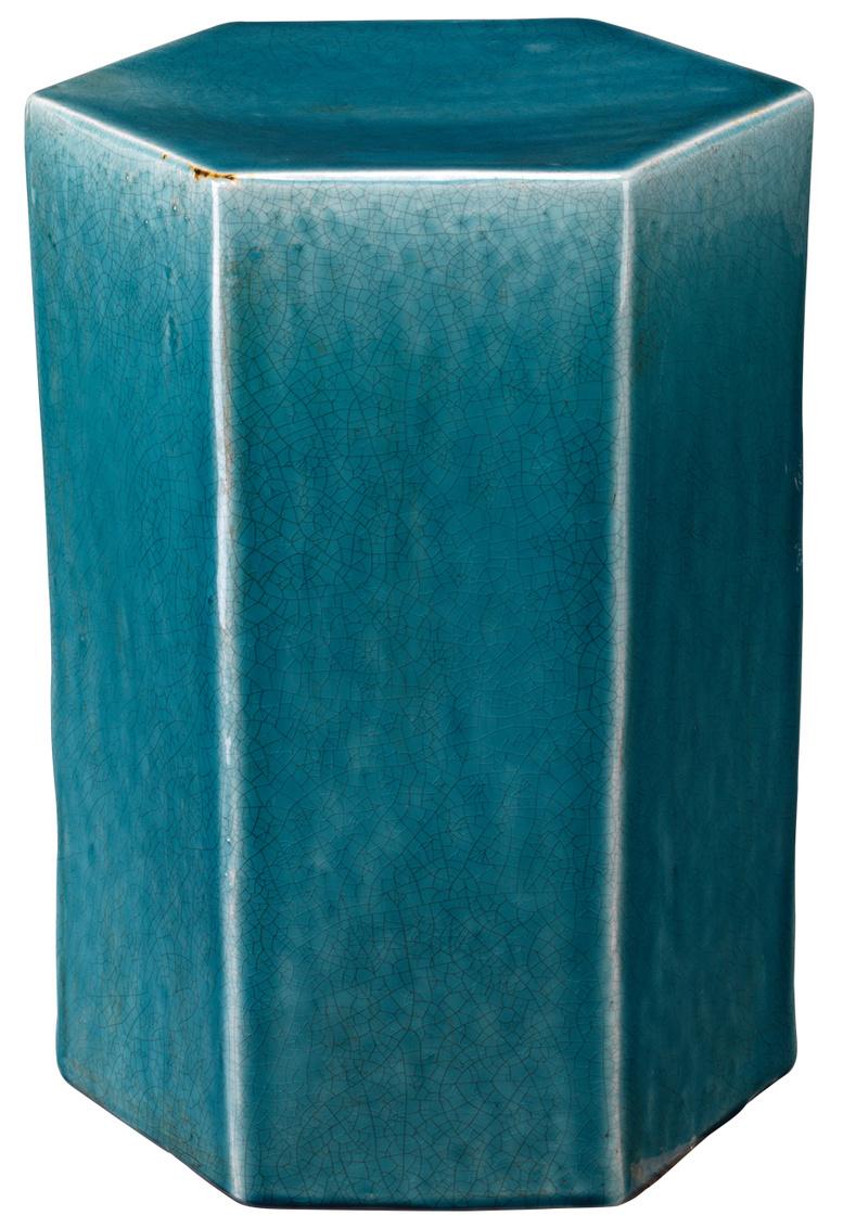 1505smallportosidetable blueceramic