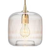 1604contourpendant etchedglassbrass lit